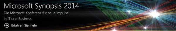 Microsoft Synopsis 2014 am 13./14. Mai 2014 in Darmstadt