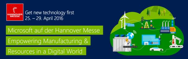 Microsoft auf der Hannover Messe 2016